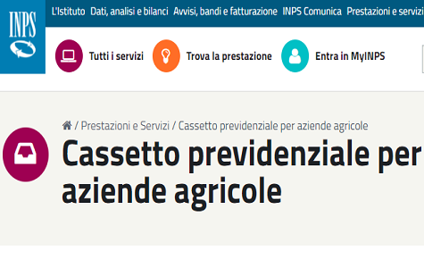 f24 inps agricoltura
