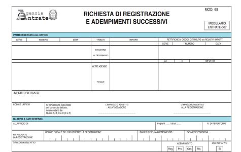 Registrazione contratto preliminare verbale all agenzia for Registrazione contratto preliminare di compravendita agenzia delle entrate