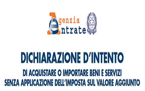 Dichiarazione d intento nuovo modello acquisti esenti iva for Scadenza irpef 2017