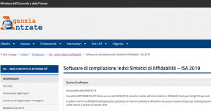 ISA: software di calcolo in versione beta. Delega massiva al via