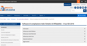 ISA, online il software definitivo per il calcolo