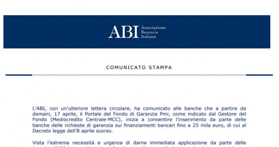 Decreto liquidità, online il modulo per richiedere i finanziamenti